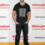 "Wearing a printed t-shirt for the world premiere of ""The Wedding Ringer"" back in 2015. (Photo: WENN)"