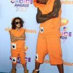Just in case it wasn't clear Nick Cannon and Moroccan are father and son, here's a picture of their twining outfits at the 2017 Nickelodeon's Kids' Choice Awards. (Photo: WENN)