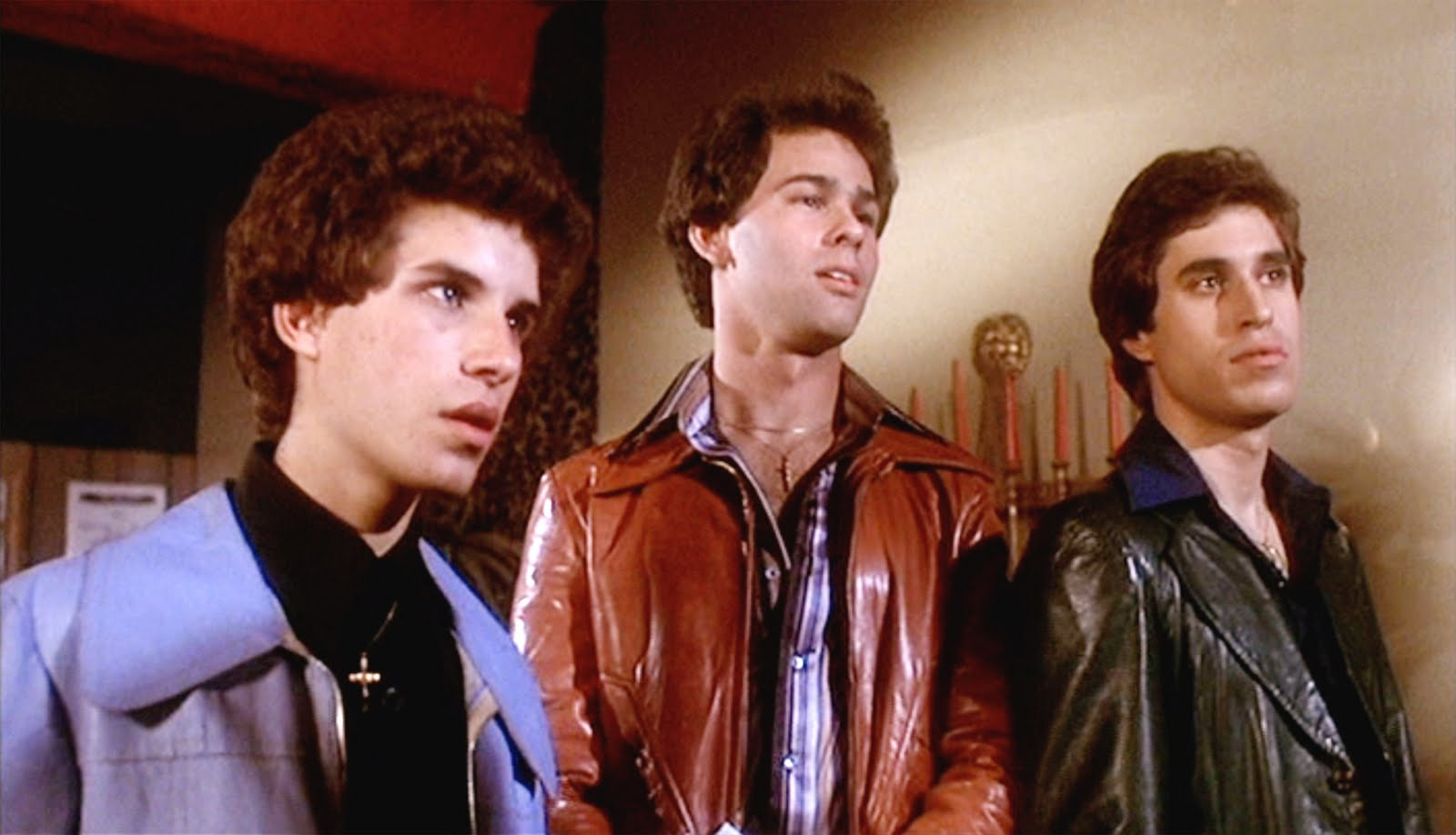 Image result for tony manero joey bobby C walking down street