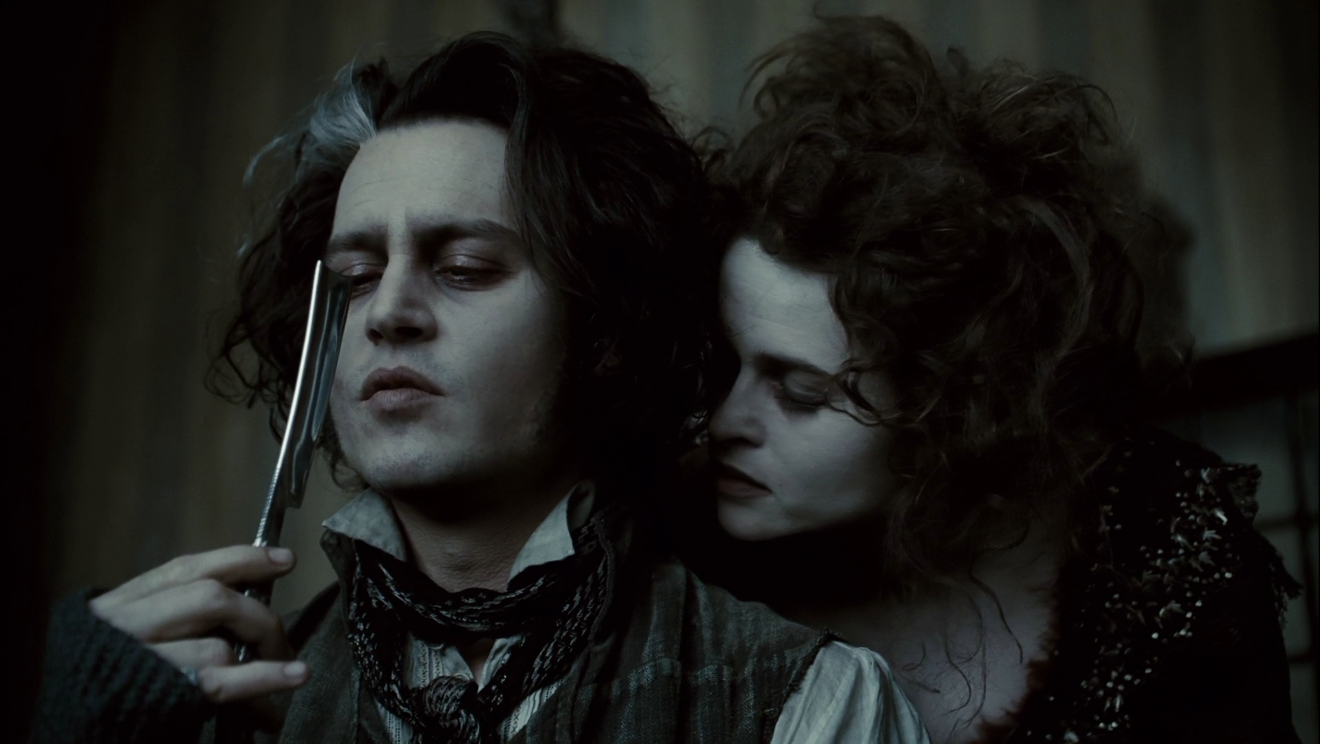 Tim Burton regulars Johnny Depp and Helena Bonham-Carter rejoin forces in Sweeney Todd: The Demon Barber of Fleet Street, a story about a barber that goes on a rampage after being convicted for a crime he didn't commit. (Photo: Promotion)