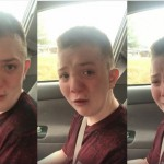 Keaton Jones tearful reaction to bullying was capture by his mom on video, and went viral over the weekend. (Photo: Facebook)