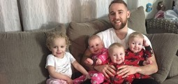 Superdad Getting Triplets + Toddler Ready For Bedtime Goes Widely Viral!