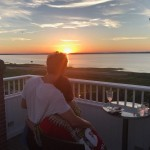 When they enjoyed a romantic sunset in the Hamptons together. (Photo: Instagram)