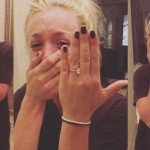 Karl Cook shared an emotional video on Instagram of the moment after he asked the actress to marry him. (Photo: Instagram)