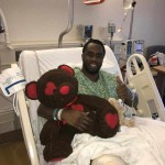 Sean Combs snapped photos from his hospital bed, revealing that he had undergone his third and final knee surgery in under a year. (Photo: Instagram)