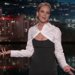 On early November, Jennifer Lawrence was the guest host on the Jimmy Kimmel Live! (Photo: Twitter)