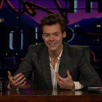 Corden's good friend, singer Harry Styles, took his place on The Late Late Show on the day of his daughter's birth. (Photo: WENN)