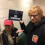 Lohan shared a photo with Ed Sheeran in the Jingle Bell Ball. (Photo: Twitter)