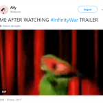 Pretty accurate representation of our reaction after watching Infinity War trailer. (Photo: Twitter)
