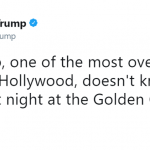 Trump bashing Meryl Streep after she condemned him (without ever speaking his name) at the 2017 Golden Globes ceremony. (Photo: Twitter)