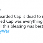 I didn't know bearded Cap was the missing piece in my life. (Photo: Twitter)