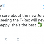 T-Rex is the real MVP. (Photo: Twitter)