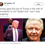 Congratulations to Jon Voight for making it to Disney's Hall of Presidents without even being a president. (Photo: Twitter)