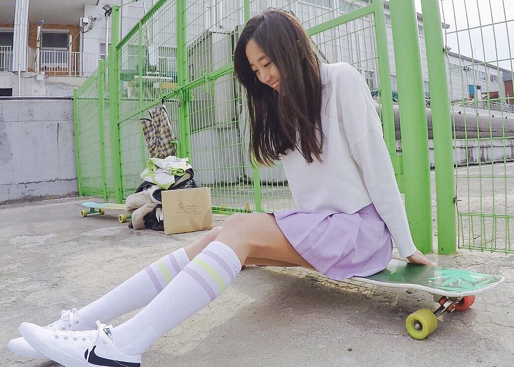 "She skateboards, she dances, and she's an internet sensation. Her name is Ko Hyojoo, a South Korean ""amateur"" skater. (Photo: Instagram)"