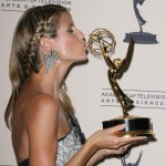 Heidi Klum after winning an Emmy award for Outstanding Host for a Reality in the 2013 ceremony. (Photo: WENN)