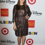 Mayim wearing a sparkly brown sequel Alice and Olivia dress for the 2013 Annual GLSEN Respect Awards. (Photo: WENN)