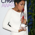 Jennifer Hudson after being awarded with the humanitarian award at the 2014 People's Choice Awards. (Photo: WENN)