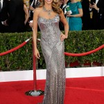 Sofia Vergara was luminous at the 2014 SAG Awards in a formfitting Donna Karan Atelier gown covered in silver sequins. (Photo: WENN)