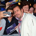 Adam Sandler posing with his German fans at the world premiere of Blended. (Photo: WENN)