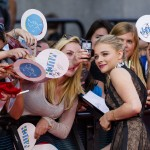Chloë Grace Moretz taking a selfie with her fans during the 2014 Much Music Video Awards red carpet. (Photo: WENN)