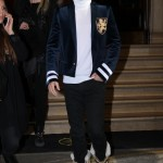 Jared Leto attended the pre-fall/winter 2015 show wearing a velvet Balmain Blazer and Sorel boots. Oh, and platinum blond hair, of course. (Photo: WENN)