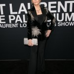 An ageless Jane Fonda worked a high-rise French pleat and an appropriately star-spangled tux at the Saint Laurent show at The Palladium in 2016. (Photo: WENN)
