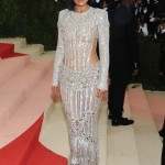 Kylie Jenner made her Met Gala debut at the 2016 red carpet wearing a beaded silver Balmain gown with full sleeves and a fringed skirt. (Photo: WENN)