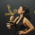 Julia Louis-Dreyfous after winning an Emmy Award for Outstanding Lead Actress in a Comedy Series for Vepp in the 68th annual ceremony. (Photo: WENN)