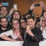 Michael Bublé and his fans taking a selfie at the 11th Rome Film Festival. (Photo: WENN)