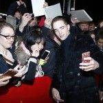 "Robert Pattinson greeting his fans at the premiere for ""The Lost City"" of Z at the 67th Berlin Film Festival. (Photo: WENN)"