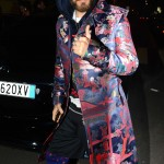 Jaret Letto arrived at the Gucci Fashion Week 2017 party wearing all Gucci: coat, hoodie, socks, pants… you name it! (Photo: WENN)