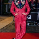 The Blade Runner 2049 star was boldly suited in a plaid and embroidered Gucci at the 2017 GQ Men of the Year Awards. (Photo: WENN)