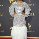 All eyes were on Tracee Ellis Ross at the 2017 Emmy Awards, as she wore a show-stopping Chanel silver tulle dress. (Photo: WENN)