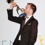 Aaron Paul after winning an Emmy Award during the 2012 ceremony. (Photo: WENN)