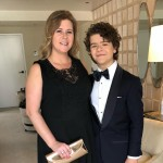 Gaten Matarazzo shared an adorable snap with his mom as he got ready for the Golden Globes. (Photo: Instagram)