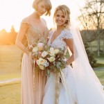 "Taylor Swift stood by her childhood BFF's side, Britany Maack, as maid of honor. ""Everything in my life has changed except for me and Britany,"" Swift wrote on Instagram. (Photo: Instagram)"