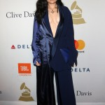 Jessie J decided to mix up her eclectic style sporting a plunging pajama inspired ensemble while attending the Pre-Grammy Clive Davis party. (Photo: WENN)