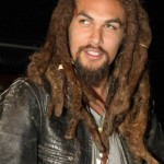 Jason Momoa sporting thick, long dreads as he walks around the streets of Los Angeles. (Photo: WENN)