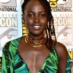 Lupita Nyong'o rocking epic superhero hair for her appearance at Comic Con San Diego. (Photo: WENN)