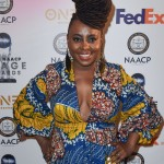 Ledisi stunning in a tall, beautiful dreadlocks hairdo at the 2018 NAACP Image Awards. (Photo: WENN)