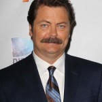 """Nick Offerman at the red carpet of the """"Paradise"""" Los Angeles premiere. (Photo: WENN)"""