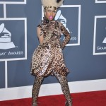 Nicki Minaj wore a head to toe cheetah print dress, complete with a matching animal print wig at the 2011 red carpet of the Grammy Awards. (Photo: WENN)