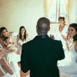 All of the Kardashians ladies, including Kris and little Nori, were bridesmaids to her sister/mom/daughter Kim's Italian wedding to Kanye. (Photo: Instagram)
