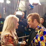 """It's always a great night when I see @ElthonJohn"" Cyndi Lauper wrote after bumping into Sir Elton John. (Photo: Instagram)"