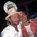David Beckham and son Brooklyn welcoming 2018 together. (Photo: Instagram)