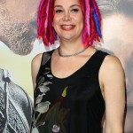 "Lana Wachowski wearing her iconic colorful dreads at the red carpet of the premiere of ""Jupiter Ascending."" (Photo: WENN)"