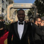 """Sterling K. Brown shared a photo of himself as he arrived for the award show on Jan. 7, 2018. """"I'm here!!! #ThisIsUs #GoldenGlobes,"""" he captioned it. (Photo: Instagram)"""