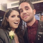 "Anna Kendrick couldn't help but smile as she posed with her ""Pitch Perfect"" co-star Ben Platt backstage. (Photo: Instagram)"