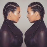 The brunette cornrows. (Photo: Instagram)