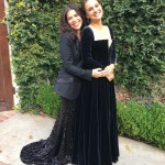 """America Ferrera and Natalie Portman were the definition of """"date goals"""" as they headed to the Golden Globes together. """"My gentlewoman of a date, @nportmanofficial came all the way to the door for me. How ladies do. (Photo: Instagram)"""